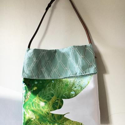 TOTE BAG GREEN LOSANGE face
