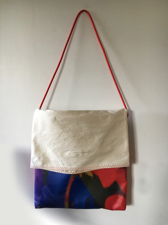 TOTE BAG RED FLOWER FACE