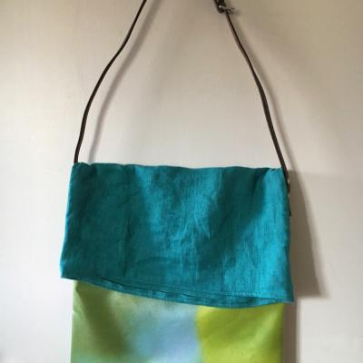 TOTE BAG TURQUOISE face